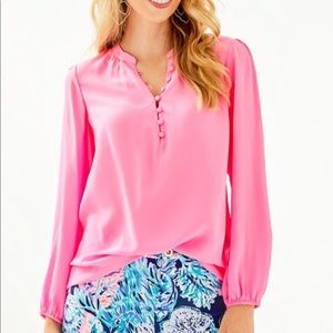 NWT Lilly Pulitzer Lana Ray Top in Prosecco Pink